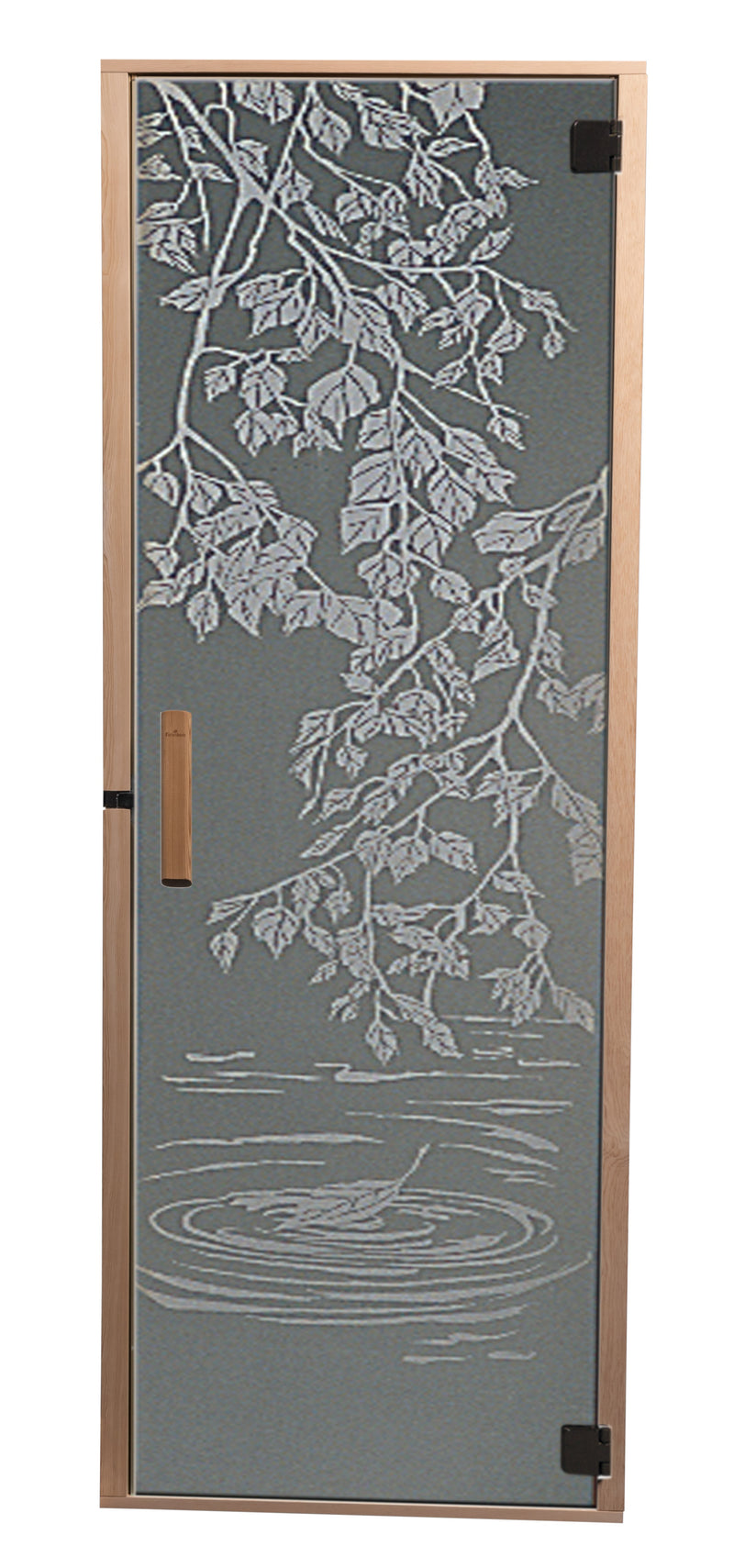 "All Glass Door Laser Etched Design 24"" × 72"""
