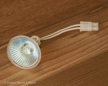 Superior Saunas: Sauna Lighting - Spectra Recessed Sauna Light Kit Replacement Halogen Bulb