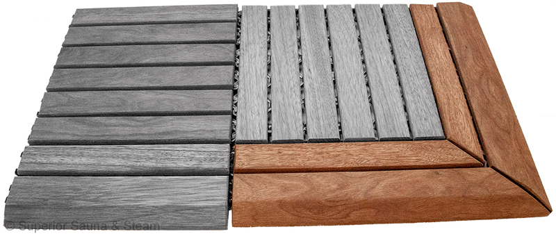 Superior Saunas: Sauna Flooring - Hardwood Flooring Snap Together Corner