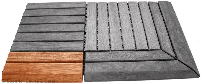 Superior Saunas: Sauna Flooring - Hardwood Flooring Snap Together Edge