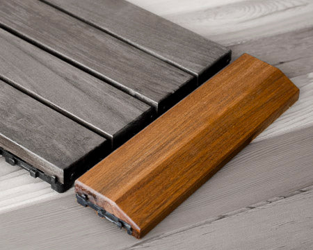 Ipe Floor Tile Transition Edge - Superior Saunas