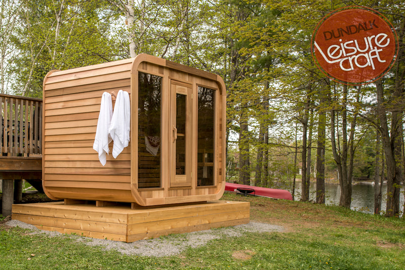 Superior Saunas: Outdoor Sauna Kit - Outdoor Luna Sauna 8 x 7
