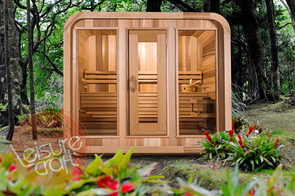 Superior Saunas: Outdoor Sauna Kit - Outdoor Luna Sauna 8 x 6