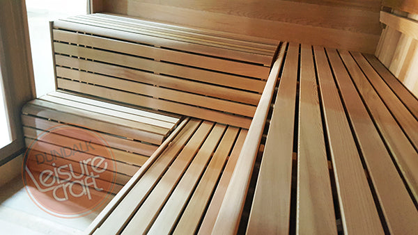 Superior Saunas: Outdoor Sauna Kit - Outdoor Luna Sauna 8 x 8