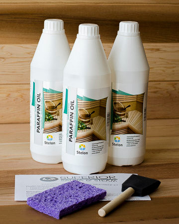 Superior Saunas: Sauna Cleaners - Sauna Wood Oil Treatment Kit