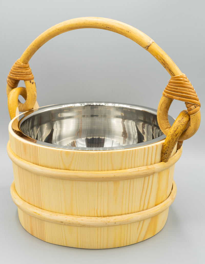 Superior Saunas: Sauna Bucket - Pine Bucket Stainless Steel 1 Gallon