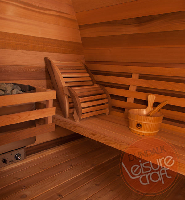 Superior Saunas: Outdoor Sauna Kit - Outdoor Pod Sauna 8 x 7