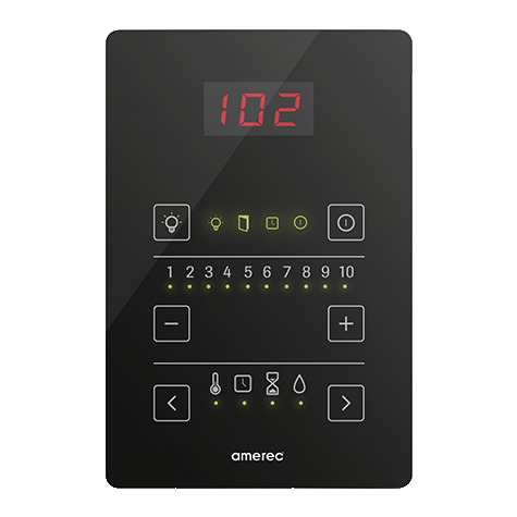 Superior Saunas: Steam Control - Amerec Pure 2.0 Touch Steam Control Panel