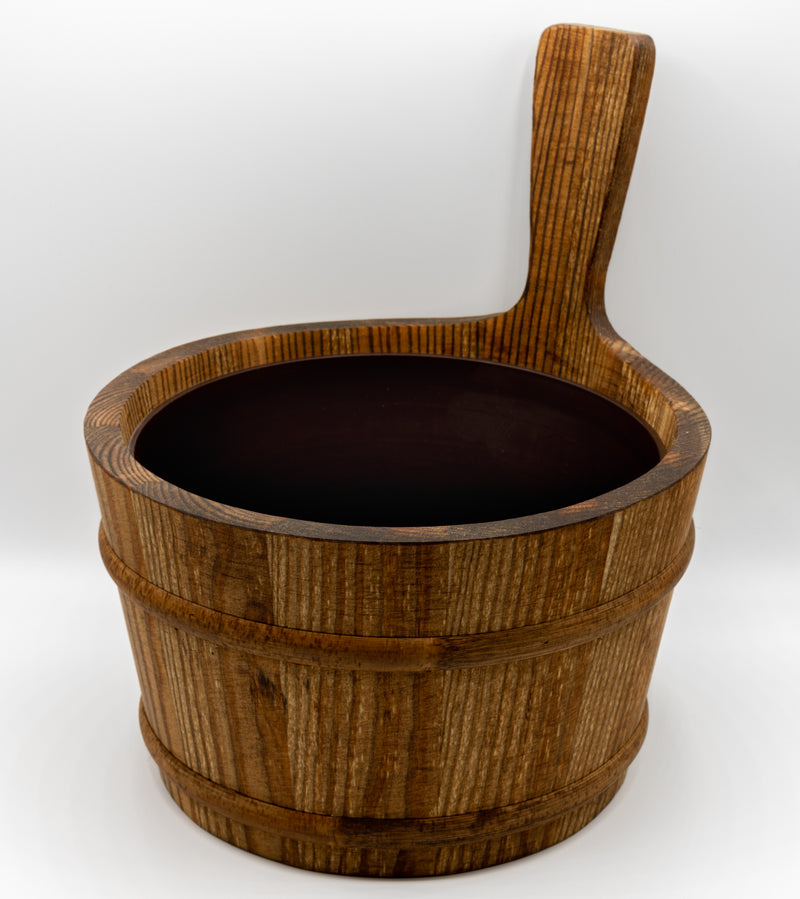 Tar Wooden Bucket 1 Gallon