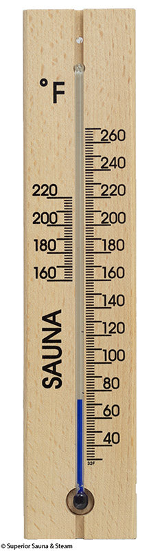 Superior Saunas: Thermometer - Beech Slim Profile Thermometer