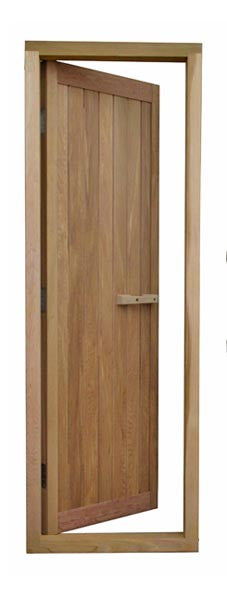 Cedar All Wood Door - Superior Saunas