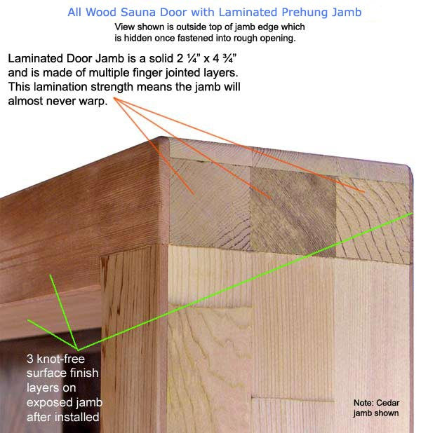 Superior Saunas: Sauna Door - Red Cedar All Wood Door