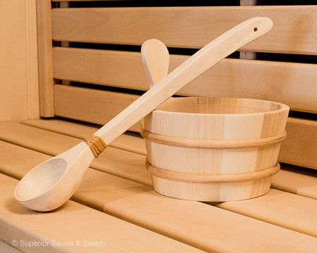 Superior Saunas: Accessory Combo Kit - Aspen 1 Gallon Bucket and Ladle