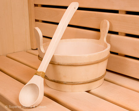 Superior Saunas: Accessory Combo Kit - Aspen 2.6 Gallon Bucket and Ladle
