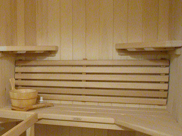 Superior Saunas: Backrest - Deluxe Curved Backrest Basswood