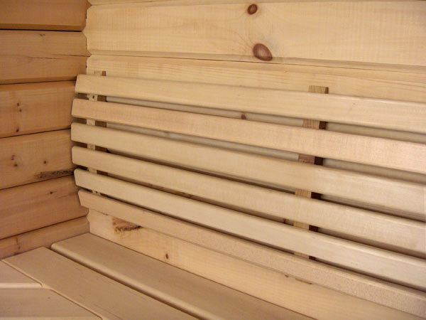 Deluxe Curved Backrest Basswood - Superior Saunas