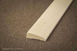 Superior Saunas: Sauna Lumber - Basswood Beveled Door and Window Trim Stock