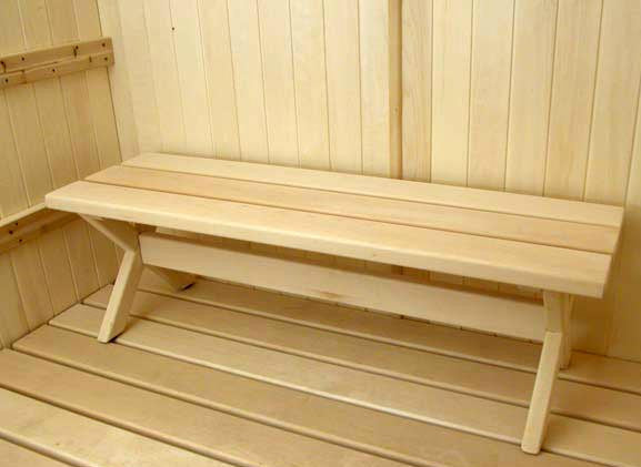 Superior Saunas: Bench - Portable Stout Bench Basswood