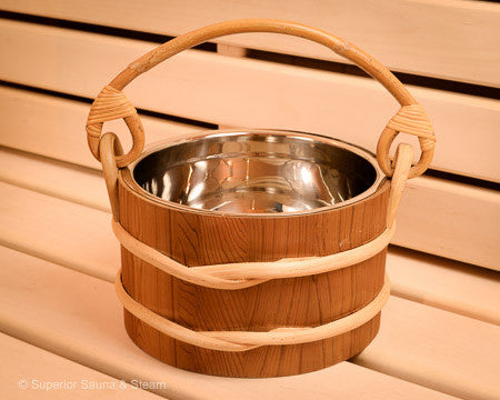 Cedar Bucket Stainless Steel 1 Gallon - Superior Saunas