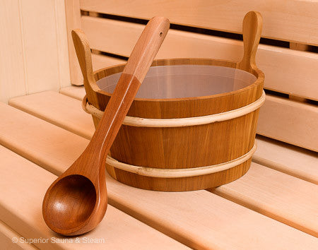 Superior Saunas: Accessory Combo Kit - Cedar 2.6 Gallon Bucket and Ladle