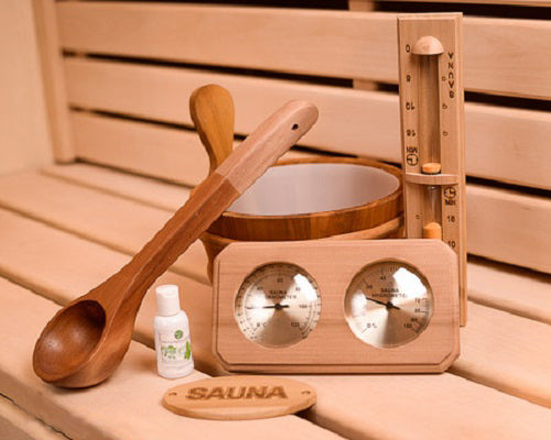 Superior Saunas: Accessory Combo Kit - Cedar Sauna Accessory Kit Standard 6 piece