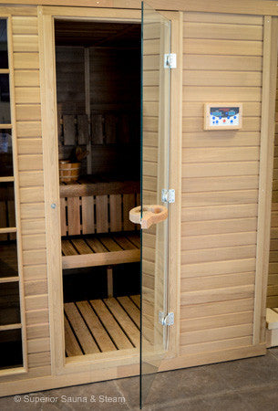 "Superior Saunas: Sauna Door - Red Cedar All Glass Door 24"" x 72"""