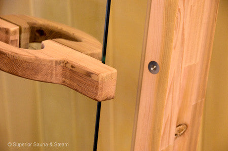 "Superior Saunas: Sauna Door - Cedar All Glass Door 24"" x 72"""