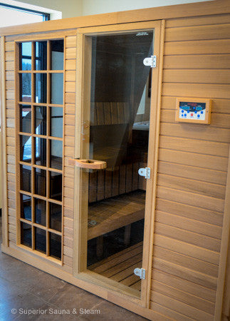 Superior Saunas: Sauna Door - Red Cedar-All Glass Door