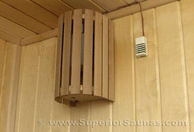 Superior Saunas: Sauna Lighting - Cedar Compact 180 Light and Shade Combo