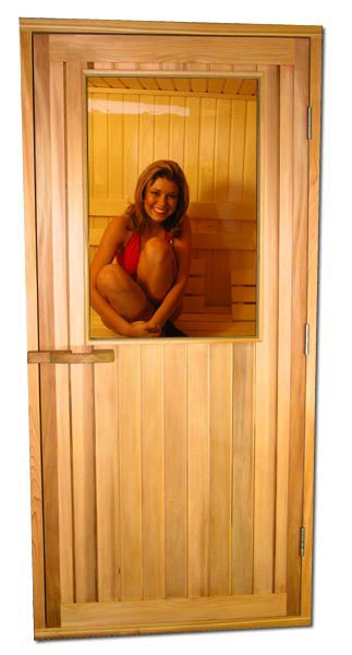 "Cedar Half Glass ADA Door 36"" x 80"" - Superior Saunas"