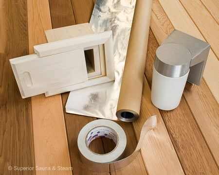 Superior Saunas: Sauna Finishing - Aspen DIY Sauna Finishing Project Kit