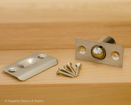 Superior Saunas: Sauna Door Hardware - Sauna Door Ball Catch Latch