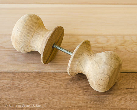 Superior Saunas: Sauna Door Hardware - Red Cedar Sauna Door Knobs