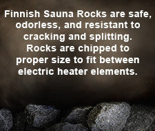 Finnish Sauna Heater Rocks (44lbs / 20kg) - Superior Saunas