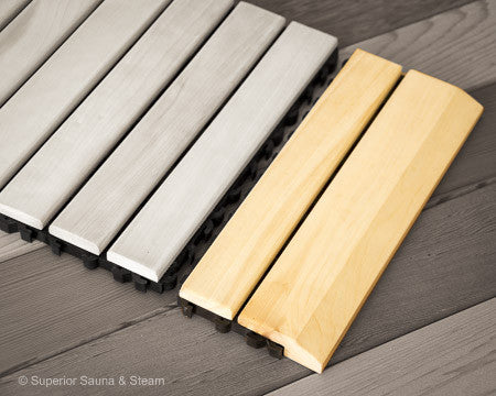Superior Saunas: Sauna Flooring - Aspen Flooring Snap Together Edge