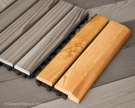Superior Saunas: Sauna Flooring - Cedar Flooring Snap Together Edge
