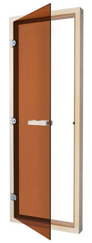 "Superior Saunas: Sauna Door - Aspen All Glass Door Bronze Tint 24"" x 72"""