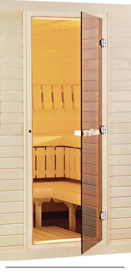 Superior Saunas: Sauna Door - Aspen-All Glass Door-Bronze Tint