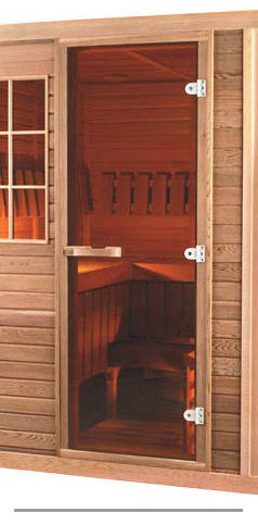 "Superior Saunas: Sauna Door - Red Cedar All Glass Door Bronze Tint 24"" x 72"""