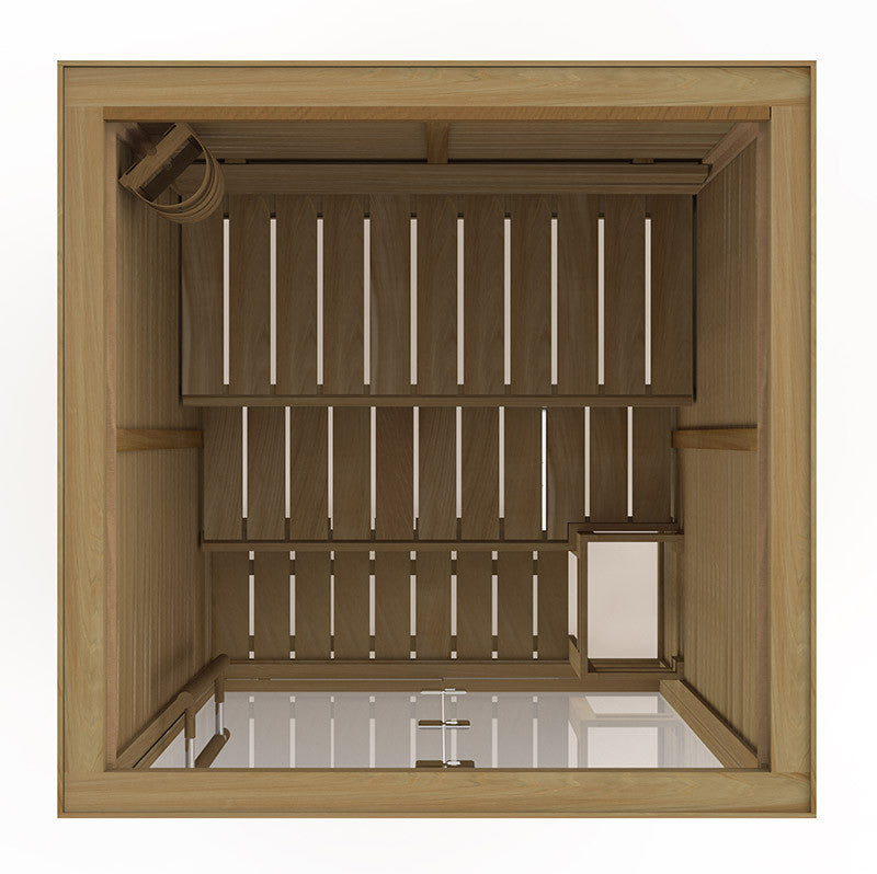 Superior Saunas: Modular Sauna - Red Cedar 2 Person Glass Front