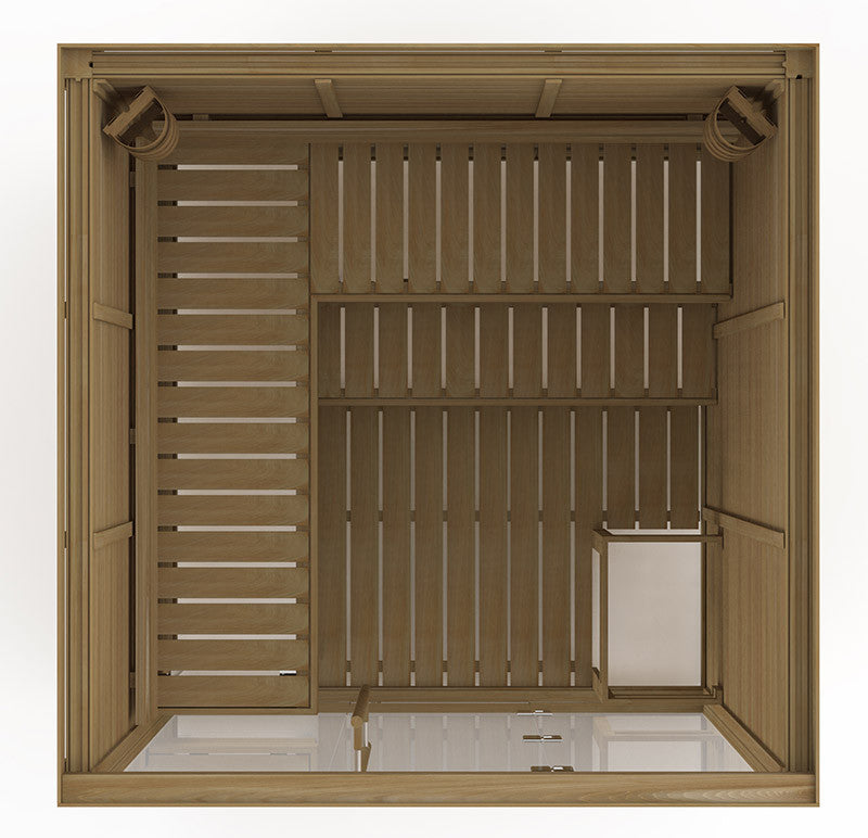 Superior Saunas: Modular Sauna - Red Cedar 5 Person Glass Front