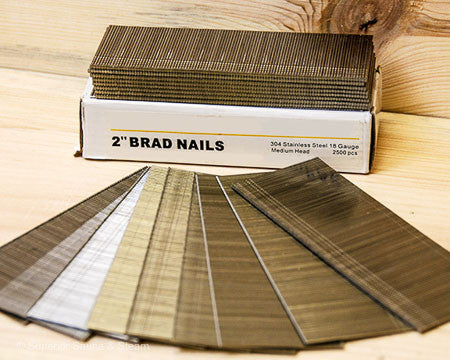 Stainless Steel Finish Nails 18 gauge 2500 pcs - Superior Saunas