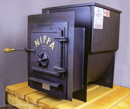 Superior Saunas: Sauna Heater - Nippa WB-18 Wood Stove with Firing Extension