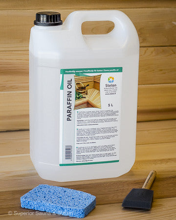 Superior Saunas: Sauna Cleaners - Sauna Wood Oil Treatment 5 Liter Kit