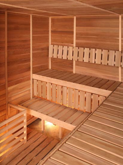 Superior Saunas: Modular Sauna - Red Cedar 6 Person