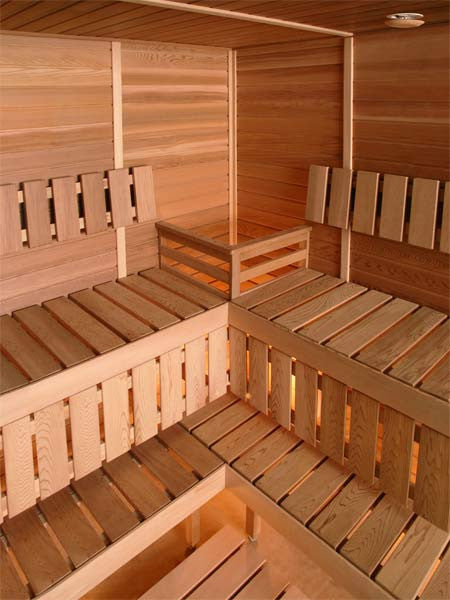 Superior Saunas: Modular Sauna - Red Cedar 3 Person Corner