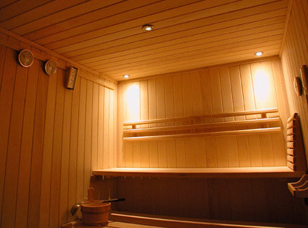 Sauna Chrome White LED Recessed Light Kit