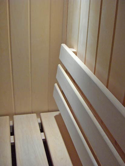 Superior Saunas: Backrest - Standard Backrest Basswood