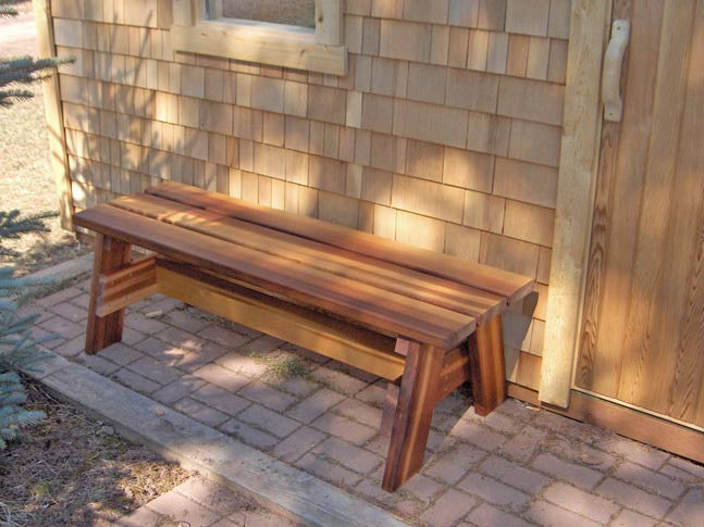 Superior Saunas: Bench - Portable Stout Bench Red Cedar
