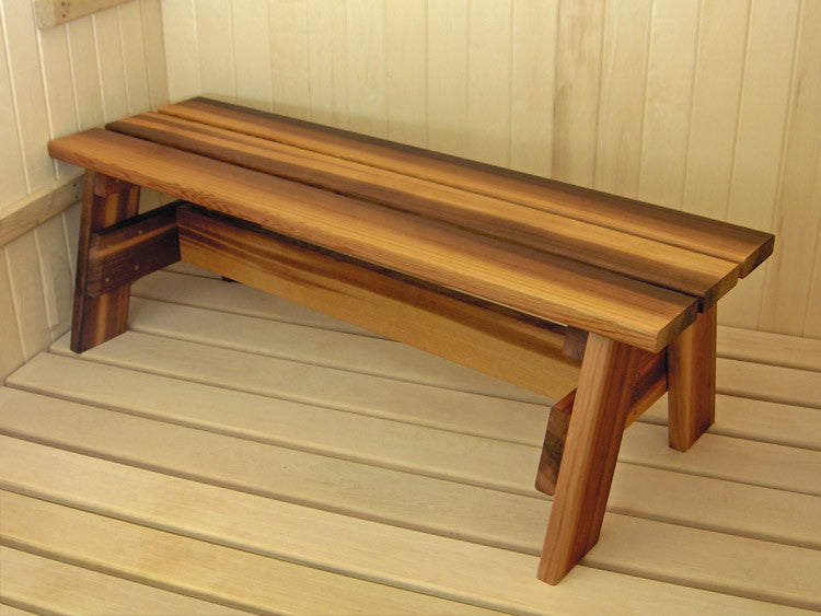 Portable Stout Bench Red Cedar - Superior Saunas